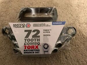 New Matco S7grxr4 4 Piece Torx 72 Tooth Wrench Set