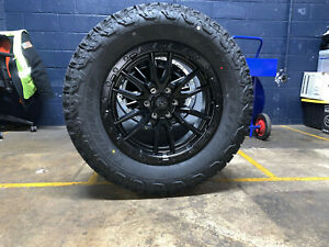 20x9 D679 Fuel Rebel Black Wheels Rims 35 At Tires 5x150 Toyota Tundra Sequoia