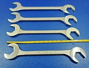 Jumbo 4 Way Angle Head Wrench Set Armstrong Usa Lot 1 7 8 1 13 16 1 3 4 1 11 16