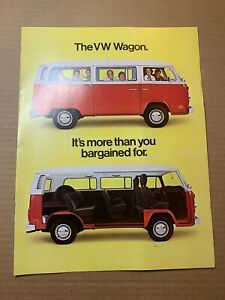 1977 Vw Volkswagen Campmobile Bus Van Sales Brochure Booklet Catalog Book Old