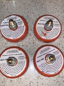 Pearson Mgc 500 Amp Welding Magnetic Ground Clamp Lot Of 4