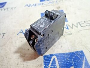 Cutler hammer Bd2020 Circuit Breakers 120 240vac 2pole 20a used
