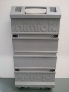 Portable Display Trade Show Exhibit Nimlok 4 Panel Display Set W Lights Instruc