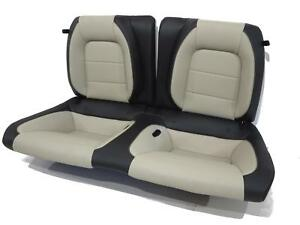 Oem Ford Mustang Gt Coupe Leather Rear Seat Black Ceramic White 2015 2016