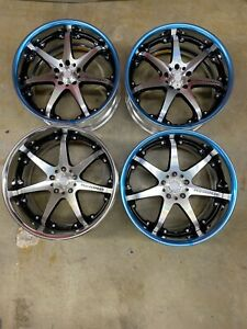Racing Hart Rs521 19x9 0 19x10 5 Machined Black 5x114 3 350z g35 Coupe