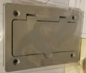 Hubbell Wiring Device kellems Pfbr826gy Floor Box Cover rectangular gray