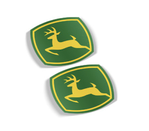 John Deere Decal Vinyl Sticker Set Of 2 Free Shipping