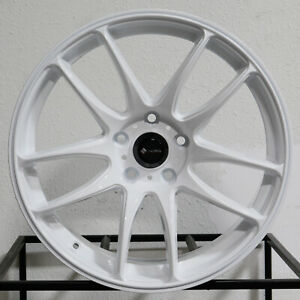 4 New 18 Vors Tr4 Wheels 18x8 5 5x112 35 White Rims