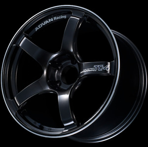 Advan Tc4 18x9 5 Lightweight Track Racing Wheel 12mm Offset 5x114 3 Black