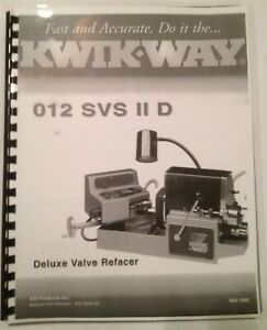 Kwik Way Svs Ii D Deluxe Valve Refacer Manual