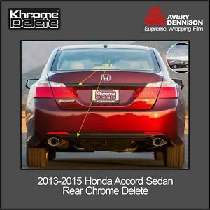2013 2015 Honda Accord Sedan Trunk Piece And Lower Rear Overlay