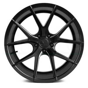 4 New 19 Verde V99 Axis Wheels 19x8 5 5x114 3 38 Satin Black Rims