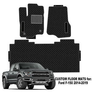 Ford F150 Floor Mats 2014 2019 Custom Made Car Truck Mat Black Heavy Duty