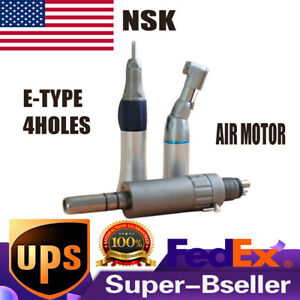 Dental Slow Low Speed Handpiece Kit Contra Angle Straight 4 h Air Motor Nsk Type