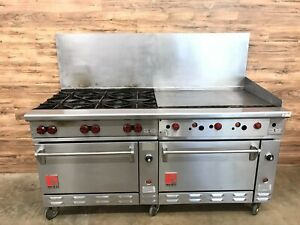 Wolf C72ss 1ak Challenger Xl Ser 6 Burner 36 Griddle W Double Oven Nat gas