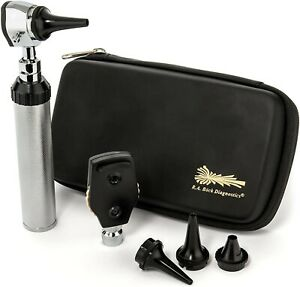 Ra Bock Diagnostics Fiberoptic Led Otoscope Kit In Tortoise Shell Case