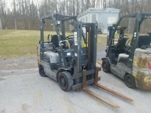 2006 Nissan 60 Forklift Gray 4750 Lb Lift Capacity With Propane Tank
