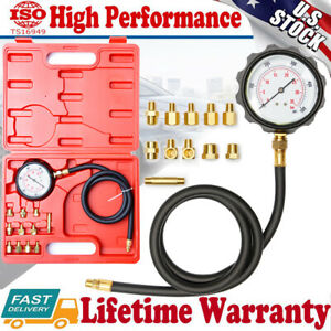Auto Transmission Engine Oil Pressure Tester Gauge Diagnostic Meter Test 500psi