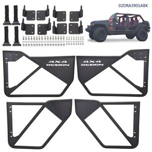 4pcs Iron Tube Door Car Accessories Laches For 2007 2018 Jeep Wrangler Jk 4 Dr