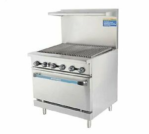 Turbo Air Tar 36rb lp 36 Gas Restaurant Range