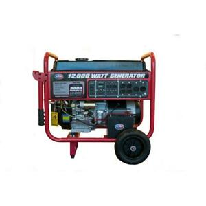 Portable Generator 9000 watt Gasoline Powered Electric Start Battery Rear Wheels
