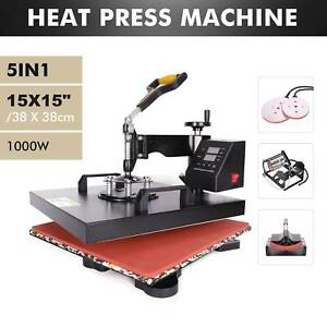 5 In1 Heat Press Machine 360swing Away Sublimation T shirt Printing Press 15x15