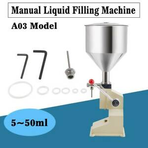 5 50ml Liquid Paste Filling Machine For Cream Shampoo Water Oil Cosmetic Filler