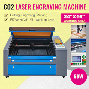 2020 Upgraded Co2 Laser Engraver Cutter 60w 16 X24 Marking Engraving Cutting