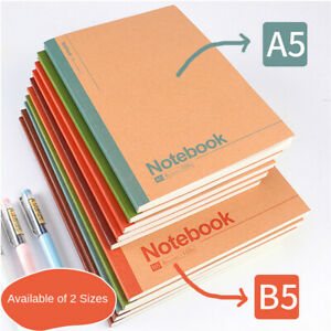 10x Journal Notebook With Lined Paper Kraft Cover Writing Diary Subject Notebook