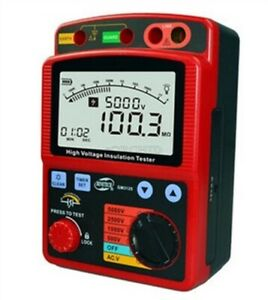 High Voltage 5kv Insulation Resistance Tester Meter Megger1t Ohm Dar Pi Gm312 Ts