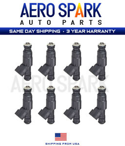 Set Of 8 Fuel Injectors For 1999 2001 Jeep Cherokee Xj 4 0l 4 Hole 0280155923