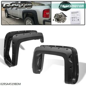 Short Bed Fender Flares Pocket Rivet Style For 14 18 Chevy Silverado 1500 5 8