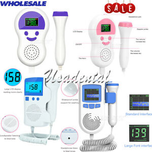 Home Health Lcd Fetal Monitor Heart Beat Monitor Pregnancy Women Use 2 5 3mhz