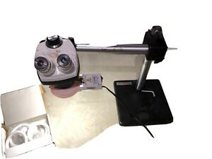 Bausch Lomb Stereozoom 4 Microscope W boom Stand Sticker Yale Ring Light
