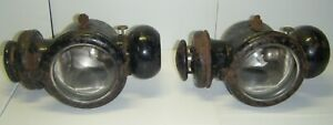 Ultra Rare Vintage Edmunds And Jones Ford Model T Cowl Lamp Oil Taillights