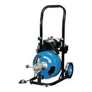 Snake 50 Ft Commercial Power feed Drain Cleaner With Gfci