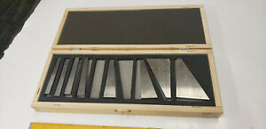 8 pc Cbl0306 Angle Gage Block Set Machinist Tool In Case Incomplete Tool 5431