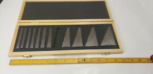 Fowler 53 666 000 0 Angle Gage Block Set Machinist Tool In Case Missing 1 block