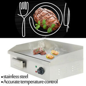 3000w Commercial Stainless Steel Electric Griddle Grill Home Bbq Plate 110v New