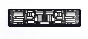 Black European Size License Plate Frame Holder
