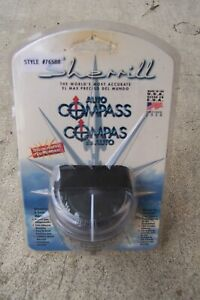 Vintage Sherrill Black Auto boat Compass 76588 New In Package