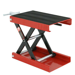 9 Wide Deck 1100lb Motorcycle Center Scissor Lift Jack Hoist Stand Bikes Atv