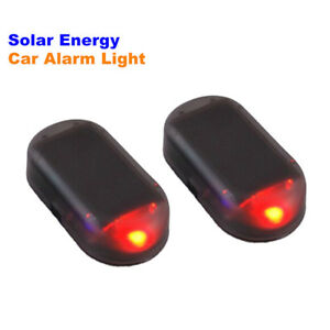 1pc Solar Energy Car Led Alarm Light Night Warning Flash Signal Anti Theft Lamp
