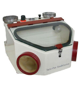 Dental Lab Equipment Double Pen Fine Sandblaster Unit Clinic Dentist Fast Ship
