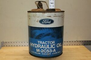 Vintage Ford Tractor Hydraulic Oil Can 5 Us Gallon M 2c53 A Empty Container