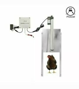 Chicken Coop Door Automatic Opener Kit Waterproof Adjustable Light Sensor W