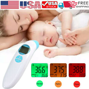 No contact Infrared Digital Forehead Thermometer Baby Adult Temperature Gun Safe