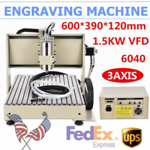 3axis 6040 Router Cnc Engraver Wood Pvc Carving Engraving Machine Parallel 1 5kw