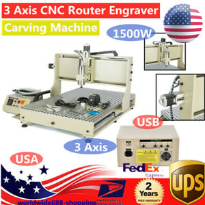 3 Axis Cnc Router Engraver Woodworking Milling Cutting Machine 1 5kw Usb