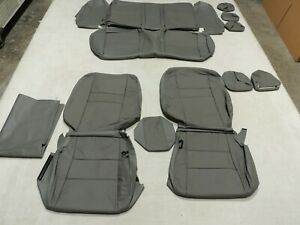 Leather Seat Covers Katzkin Fits Honda Civic Sedan Dx Lx Lx S Grey 2011 W49